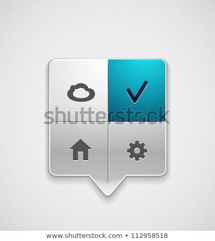 Absztrakt fényes kék beállítások ikon fény Stock fotó © pathakdesigner