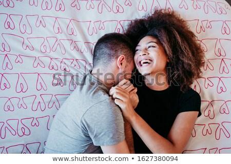 смешанный пару кровать стороны секс лице Сток-фото © photography33