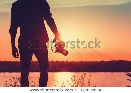 maschio · fotografo · fotocamera · digitale · persone · fotografia - foto d'archivio © cozyta