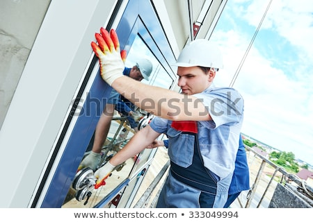 craftsman fixing the installation in a building stock photo © photography33