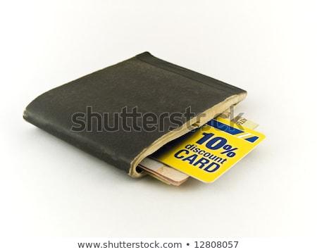 старые скидка кредитных карт белый деньги фон Сток-фото © bobbigmac
