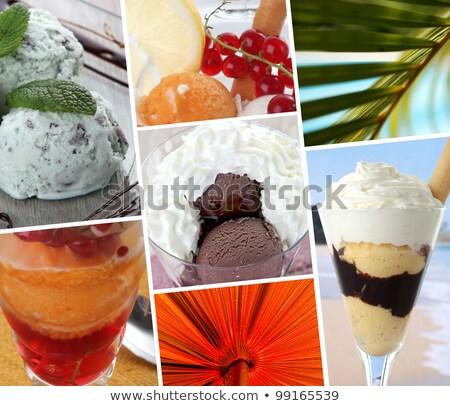 шоколадом · льда · молоко · белый · миндаль - Сток-фото © photography33