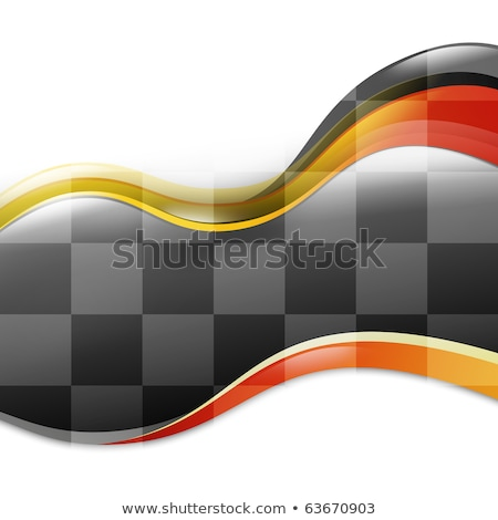 A speed race car background with red and yellow waves curves on a white isolated background. There i stock photo © HaywireMedia