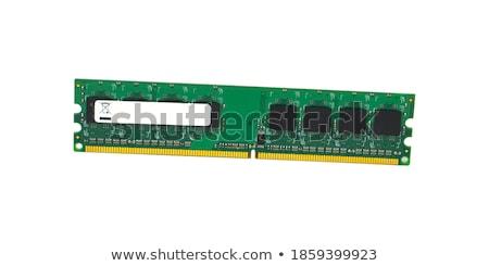 bilgisayar · bellek · yalıtılmış · beyaz · arka · plan · yeşil - stok fotoğraf © digitalr