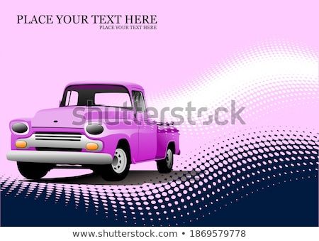 Old pink pickup with badges removed.  Stock photo © leonido