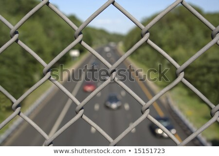 Highway Chain link fence up close Stock photo © bobkeenan