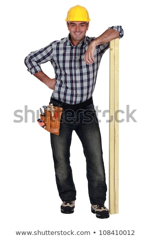 Smiling carpenter, studio shot Stock photo © photography33