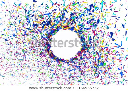 Multicolor pencil shavings background Stock photo © Loochnik