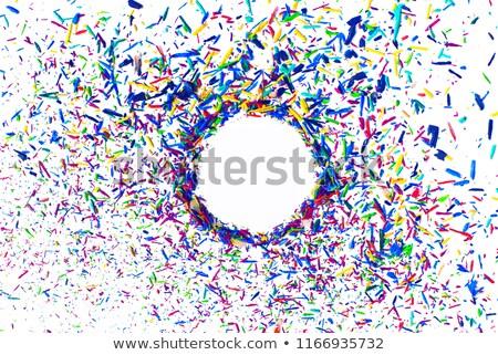 ceruza · keret · absztrakt · négy · szín · ceruzák - stock fotó © loochnik
