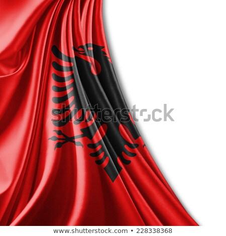 Político bandera Albania blanco mundo Foto stock © perysty