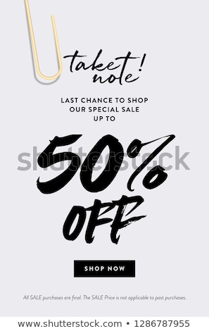 Take 50% Off Coupon Stock photo © kbuntu