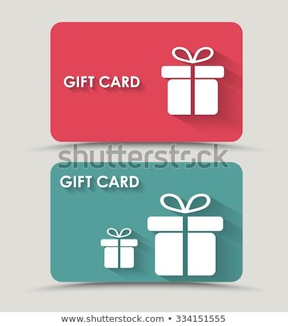 Kleur gift card ingesteld geïsoleerd witte business Stockfoto © adamson