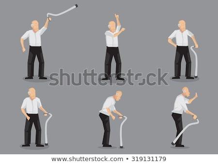 Boos gepensioneerd senior vrouw track pak Stockfoto © lisafx