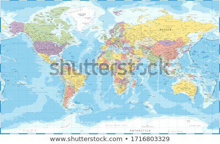 Map in colors of Russia Stock photo © perysty