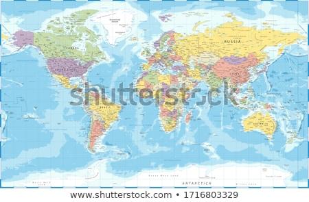 Kaart kleuren Rusland illustratie vlag kunst Stockfoto © perysty