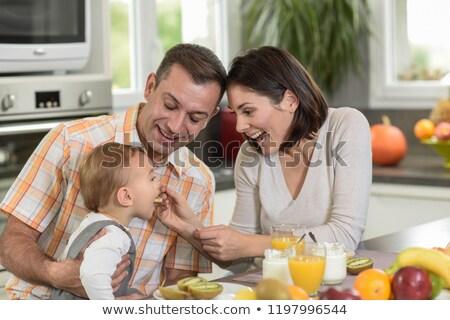 Coppia 40s colazione donna amore uomo Foto d'archivio © photography33