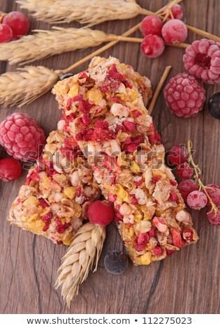 Bar frutti di bosco frutta grano mais colazione Foto d'archivio © M-studio