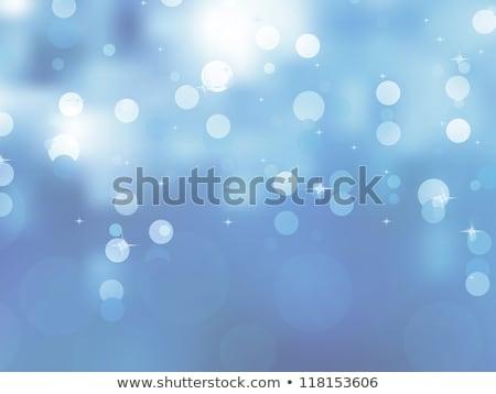 Stockfoto: Elegant Blue Christmas Background Eps 8