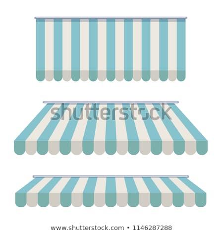 Azul porta fundo janela quadro restaurante Foto stock © experimental