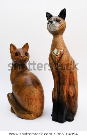 окрашенный кошки древесины дизайна модель Сток-фото © photography33