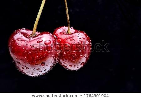 2 赤 新鮮な チェリー 美しい ストックフォト © oblachko