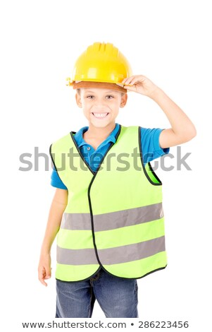Young boy pretending to be a traffic guard Stock photo © photography33