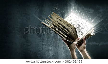 Stok fotoğraf: The Magic Book And The Letters