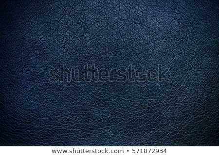 Stock photo: blue leather texture