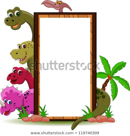 Dinozaur niebo wody słońce wygaśnięcia Zdjęcia stock © dagadu