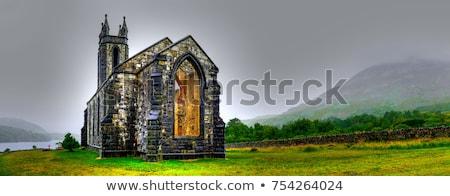 beautiful landscape with ruins stock photo © jakatics
