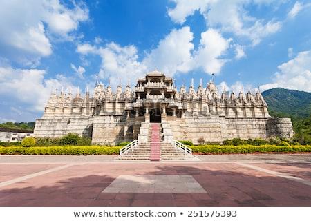 szobor · hinduizmus · templom · India · művészet · kő - stock fotó © mikko