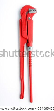 Réglable plomberie clé isolé blanche travaux Photo stock © shutswis