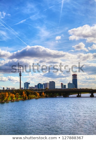 Cityscape of Vienna downtown as seen from the park Stock photo © AndreyKr