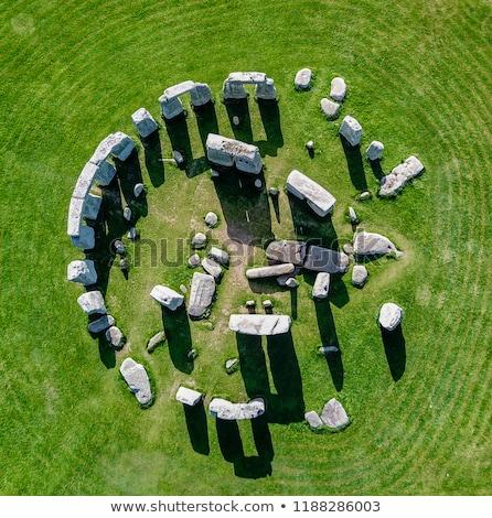Stonehenge touristes homme coucher du soleil nature fond Photo stock © adrenalina