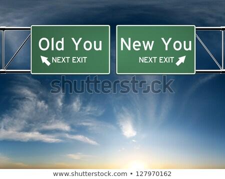 変更 選択 単語 黒板 ビジネス 道路 ストックフォト © Ansonstock