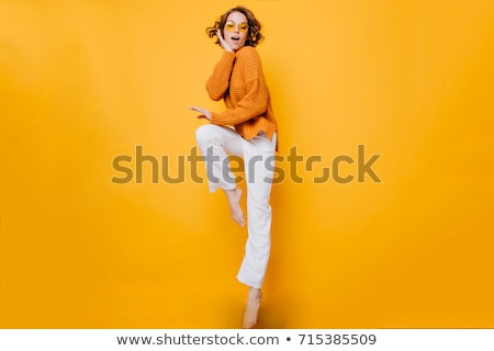 Fashionable young woman with fancy glasses Stock photo © konradbak