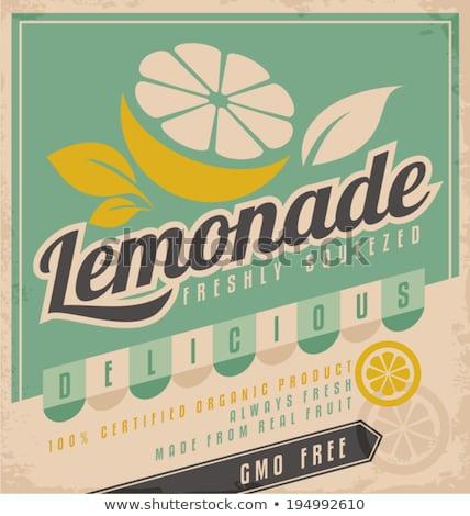 Vintage Lemonade Sign Stock photo © squarelogo