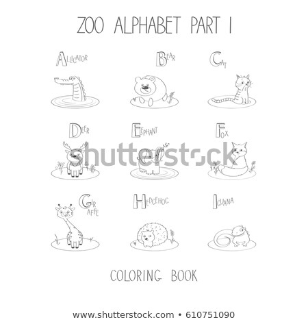 Zoo word from fur alphabet. Isolated on white background. With c Stock photo © ozaiachin