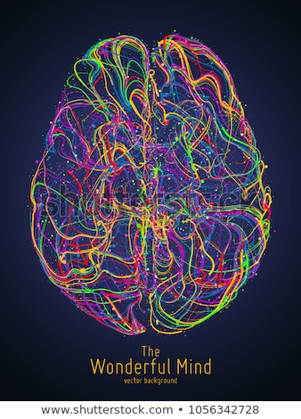 Stockfoto: Human Brain In Abstract Medical Background