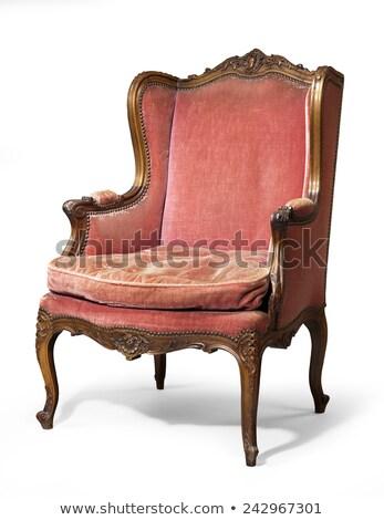 antiguos · silla · aislado · blanco · moda · espacio - foto stock © smuki