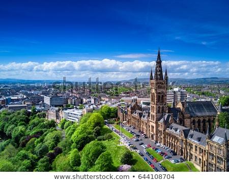 Glasgow Skócia panoráma épületek sziluett építészet Stock fotó © Julietphotography