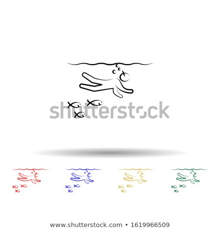 red, pink and black woman swimming suit isolated on white  Stock photo © dacasdo