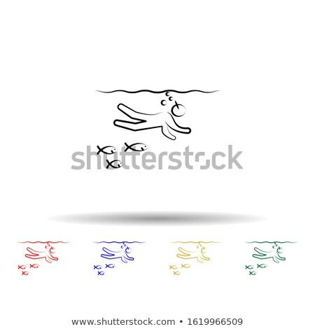 nő · rózsaszín · fürdőruha · test · tengerpart · égbolt - stock fotó © dacasdo