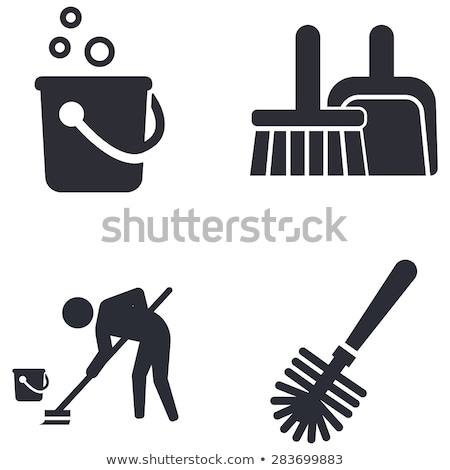vector icon bucket and brush stock photo © zzve