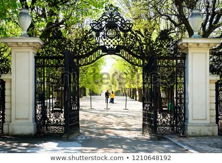Palácio parque Viena Áustria edifício jardim Foto stock © Bertl123