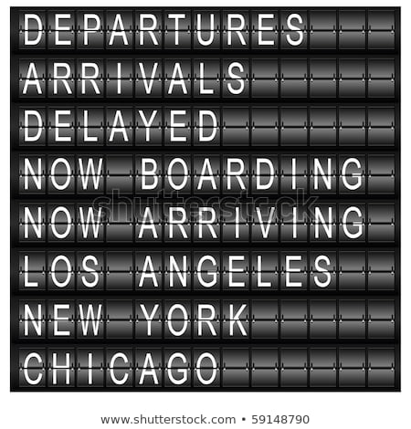 travel station schedule board stock photo © cteconsulting