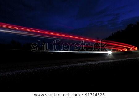 Auto licht interstate berg woestijn landschap Stockfoto © meinzahn