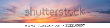синий · оранжевый · драматический · небе · Панорама - Сток-фото © moses