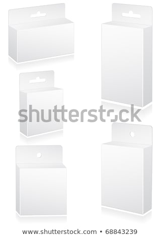 Vector illustration set of blank retail box. stock photo © Bytedust
