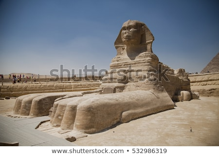 head of the great sphinx of giza egypt stock photo © tanart